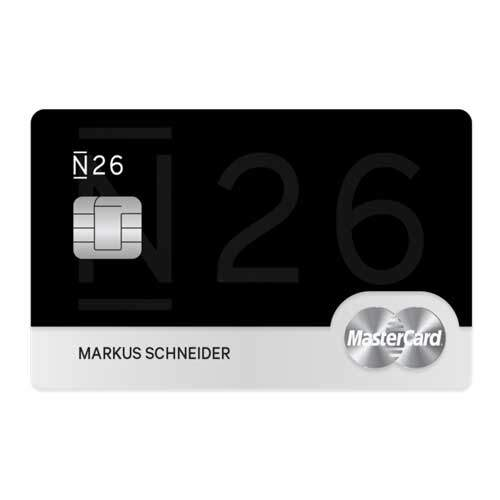 Free mastercard with N26 in Germany