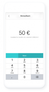 Money transfers in app
